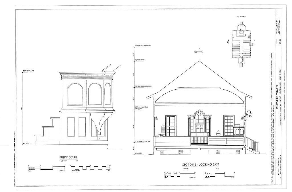 Pineville Chapel, State Road S-8-204, Pineville, Berkeley County, SC