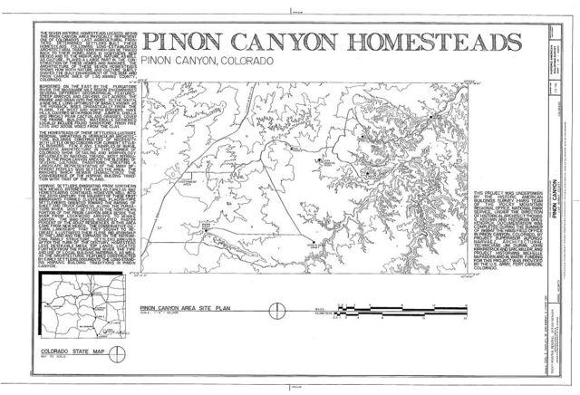 Pinon Canyon, Purgatoire River Area, Model, Las Animas County, CO