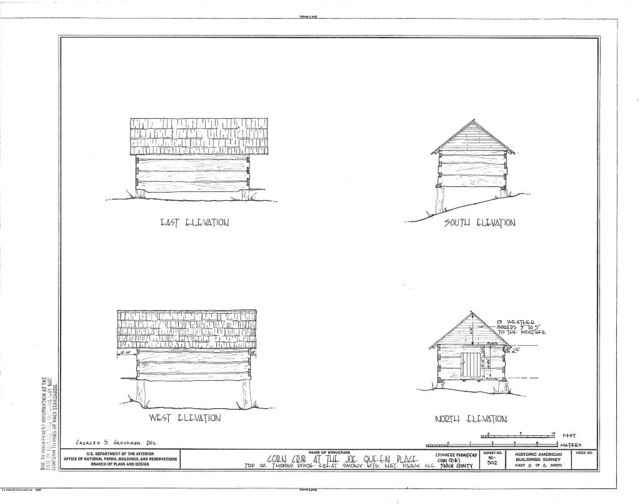 Pioneer Farmstead, Corn Crib, U.S. Route 441 (moved from Deep Creek), Cherokee, Swain County, NC