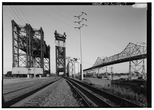 Pittsburgh, Fort Wayne & Chicago Railway, Calumet River Bridge, Spanning Calumet River, east of Chicago Skyway (I-90), Chicago, Cook County, IL