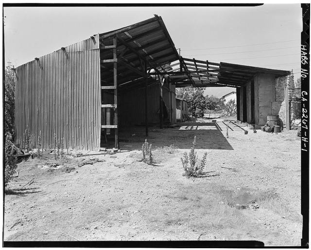 Pitzer Ranch, Shed, 130 feet West of Padua Avenue on Base Line Road, Claremont, Los Angeles County, CA