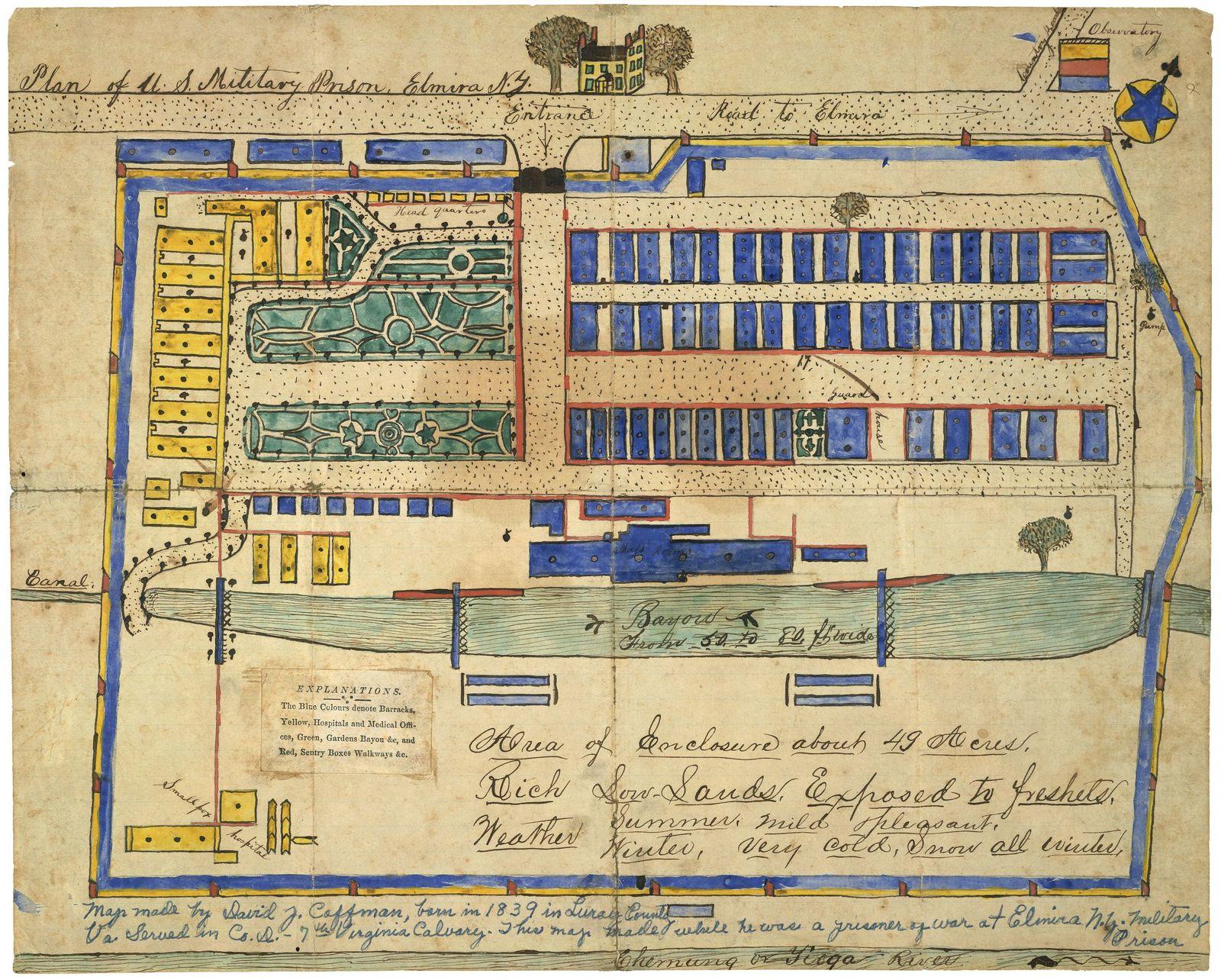 Plan of U.S. military prison, Elmira, N.Y.