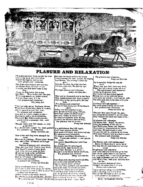 Plasure and relaxation.W 1 Mitchelson, Printer, 15 Brook