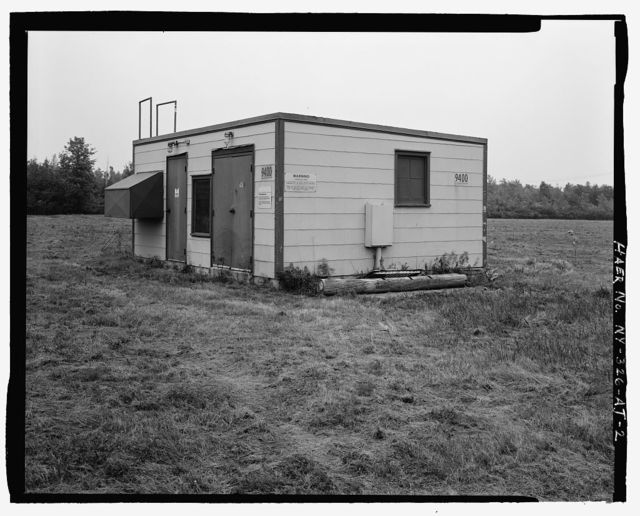 Plattsburgh Air Force Base, Tactical Air Navigation (TACAN) Facility, Off Perimeter Road at South end of Runway, Plattsburgh, Clinton County, NY