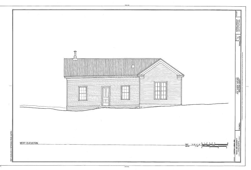 Polasek House, 200 East Fawn Street, Caldwell, Burleson County, TX