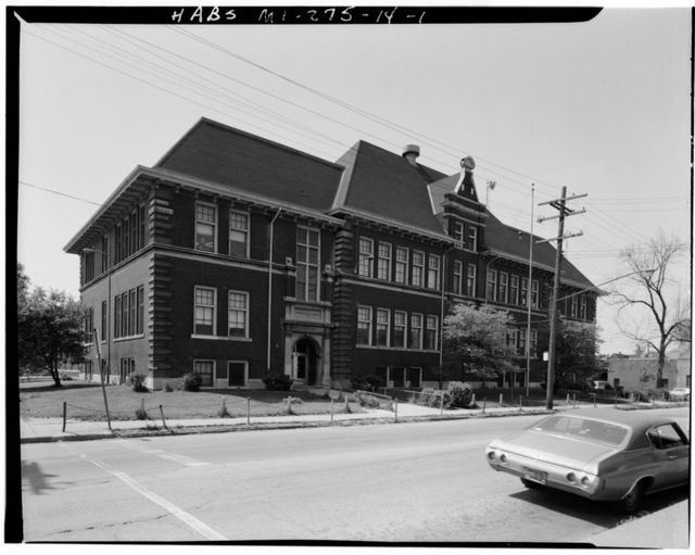 Poletown Historic District, Hervey Parke Elementary School, 3010 East Milwaukee Avenue, Detroit, Wayne County, MI
