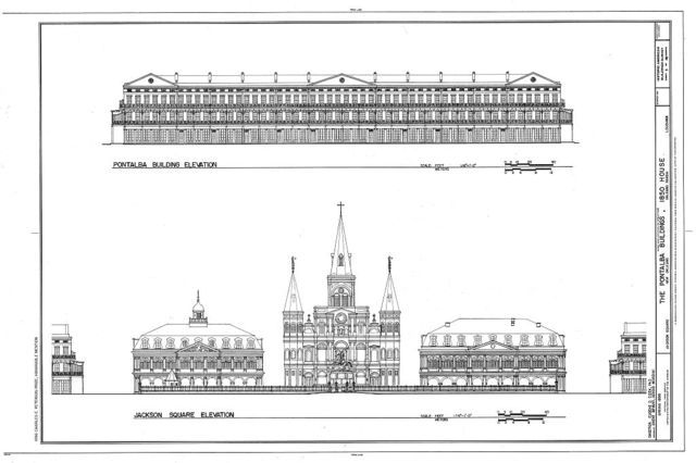 Pontalba Buildings, 1850 House, Jackson Square, New Orleans, Orleans Parish, LA