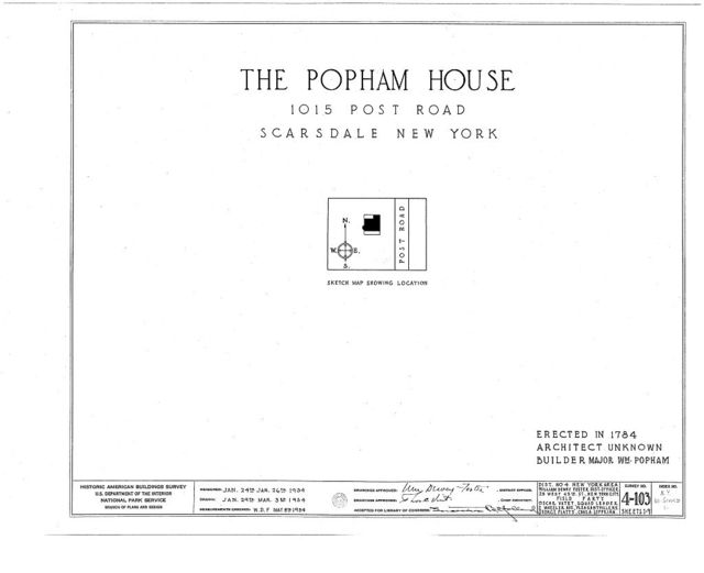 Popham House, 1015 Post Road, Scarsdale, Westchester County, NY