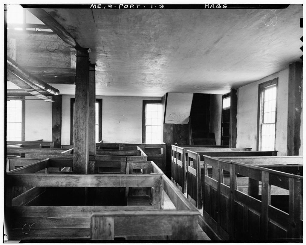 Porter Meeting House, Mill Brook, Porter, Oxford County, ME