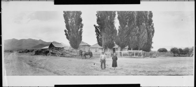 Portrait of Mr. And Mrs. John Forgnone at their ranch