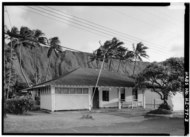 Post Office & Courthouse, Moloka'i Island, Kalaupapa, Kalawao County, HI