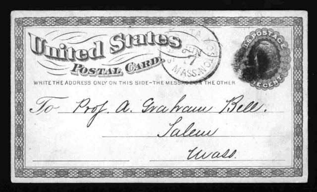 Postcard from Clarence J. Blake to Alexander Graham Bell, June 7