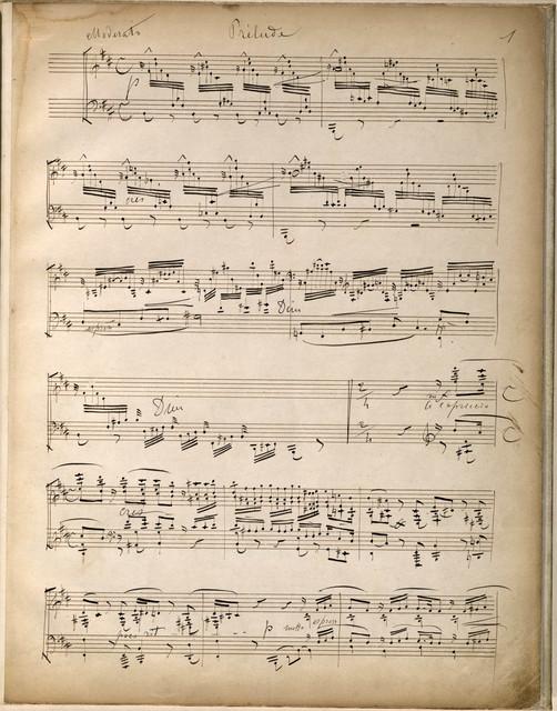 Prélude, choral et fugue, for piano solo