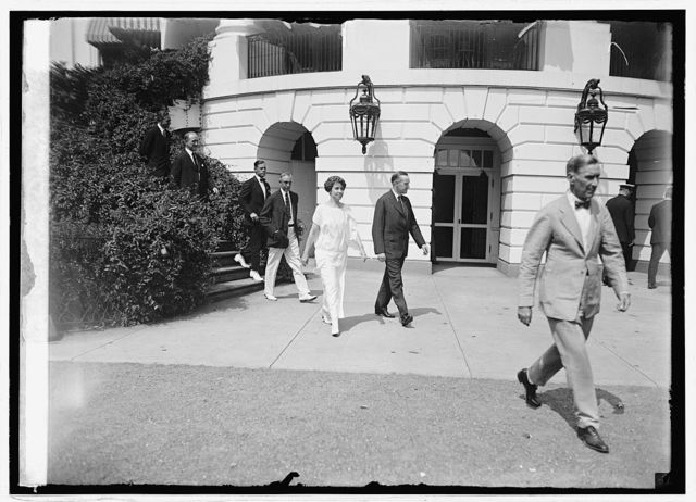 Pres. & Mrs. Coolidge at White House, [Washington, D.C.], 9/1/24