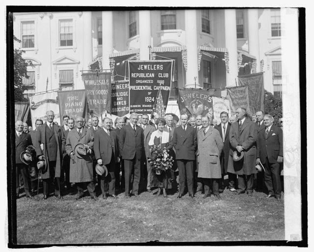 Pres. & Mrs. Coolidge with New York Business Men's Associations, 10/28/24