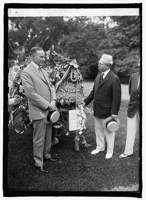 Pres. Coolidge & Ed Sceery, 7/3/24
