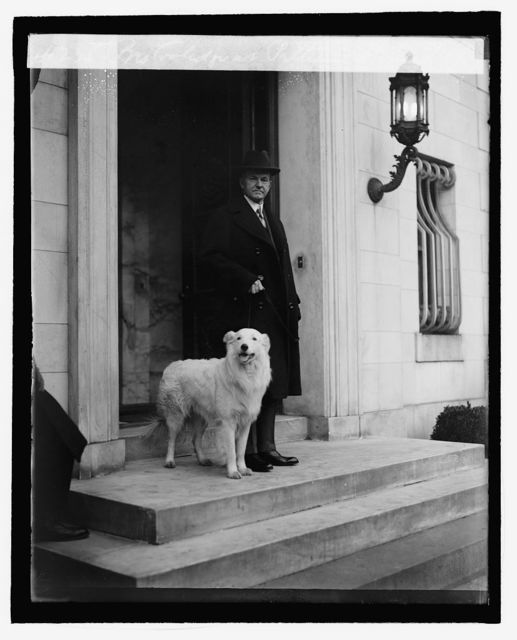 Pres. Coolidge at Patterson house, 3/15/27