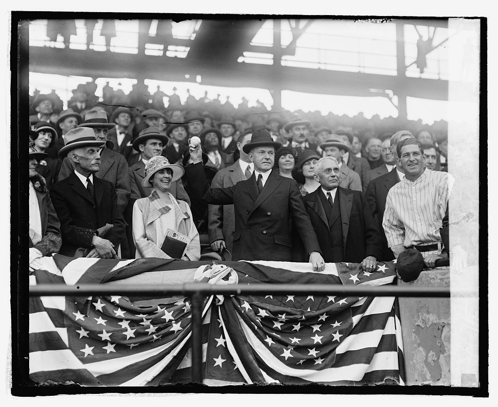 President Coolidge throwing out 1st ball, 4/22/25