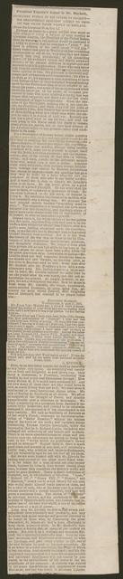 President Lincoln's letter to Mr. Hackett, [newspaper clipping].