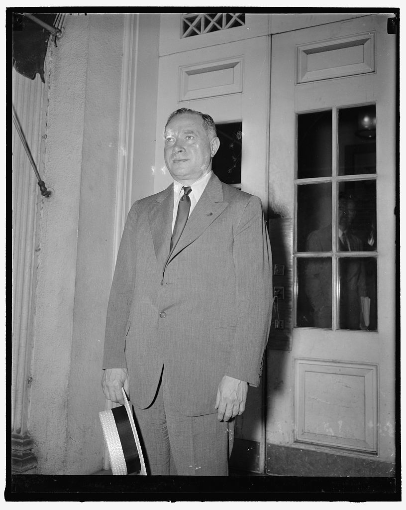 President of R.C.A. Washington, D.C., June 15. David Sarnoff, President of Radio Corporation of America, leaving the White [House?] yesterday after a call on President Roosevelt