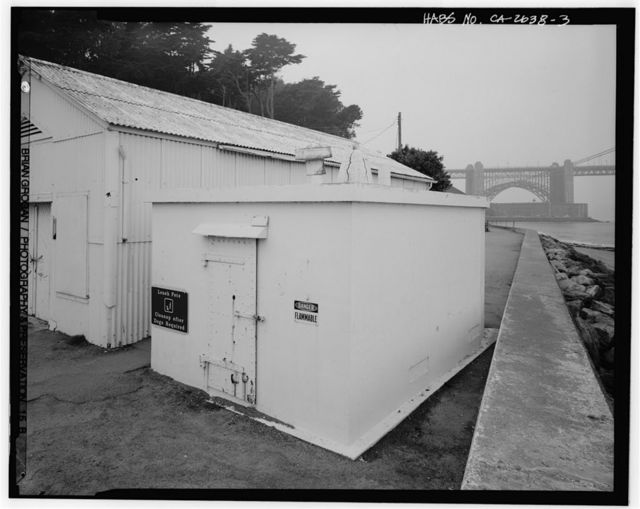 Presidio of San Francisco, Flammable Storage Building Submarine Mine Depot, Fort Point vicinity, Long Avenue, San Francisco, San Francisco County, CA