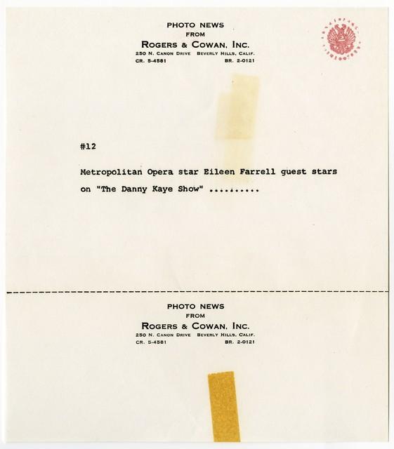 """[ Press kit for """"The Danny Kaye Show"""" November 13, 1963]"""