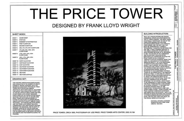 Price Tower, 510 South Dewey Avenue, Bartlesville, Washington County, OK