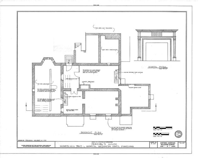 Principal's House, Nazareth Hall Tract, Nazareth, Northampton County, PA