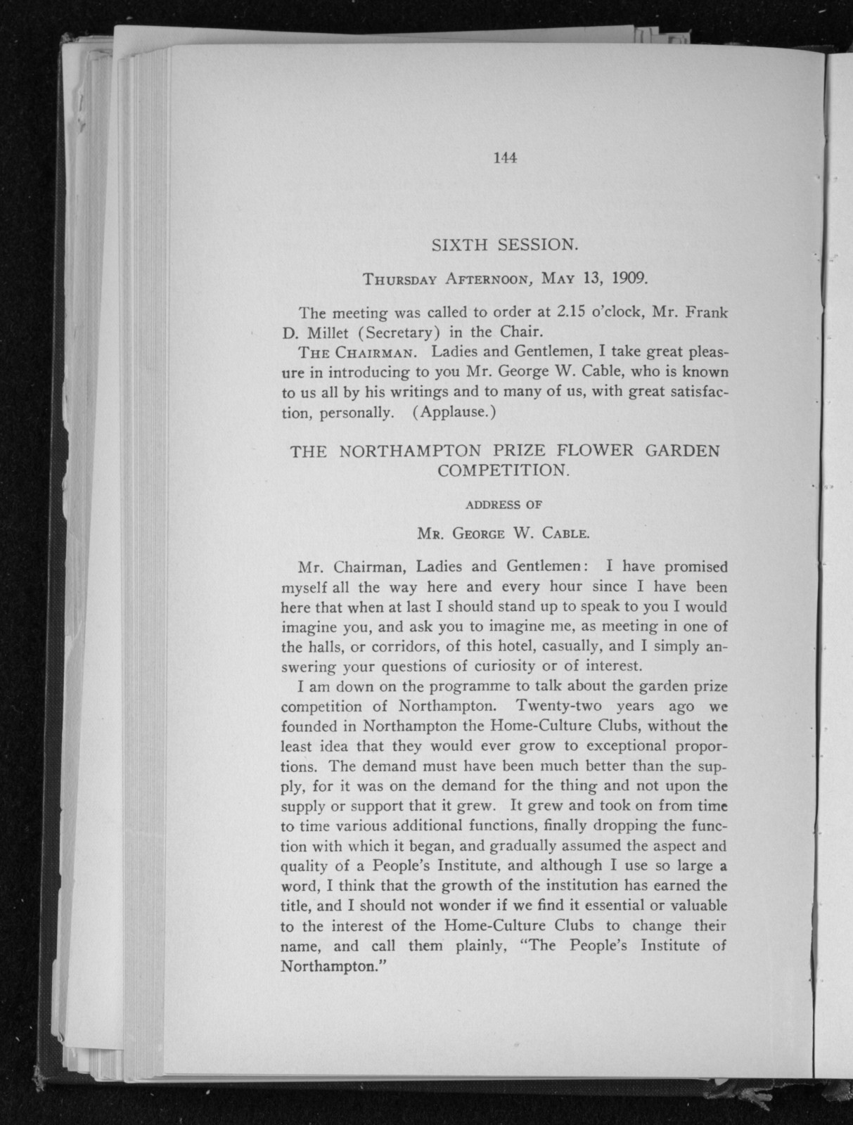Proceedings of the convention at which the American federation of arts was formed; held at Washington, D.C., May 11th, 12th and 13th, 1909.