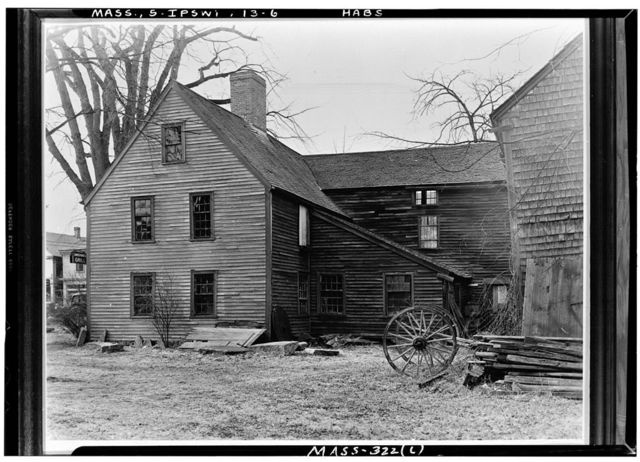 Proctor House, Jeffrey's Neck Road (moved from South Main Street, abutting Choate Bridge), Ipswich, Essex County, MA
