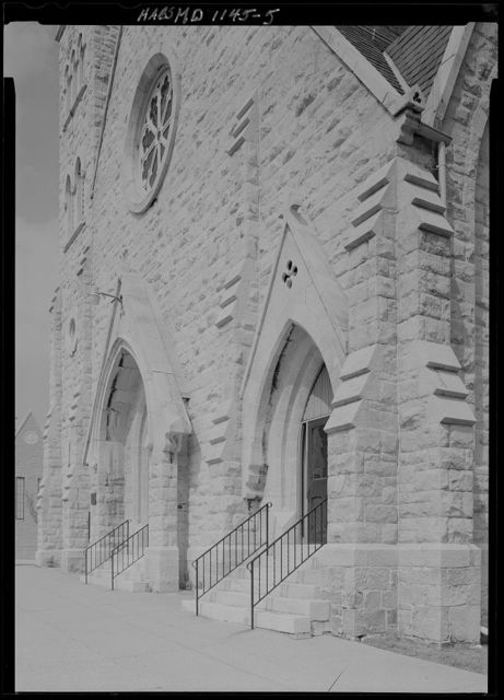 Protestant Episcopal Church of the Ascension, North Arlington & West Lafayette Avenues, southeast corner, Baltimore, Independent City, MD