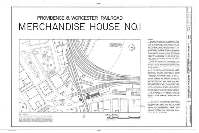 Providence & Worcester Railroad, Freight House, Canal Street, Providence, Providence County, RI