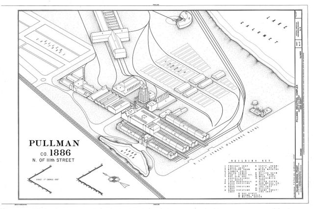 Pullman Industrial Complex, 111th Street & Cottage Grove Avenue vicinity, Chicago, Cook County, IL