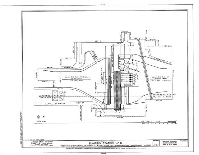 Pumping Station No. 6, Orpheum Avenue & Hyacinth Street, New Orleans, Orleans Parish, LA