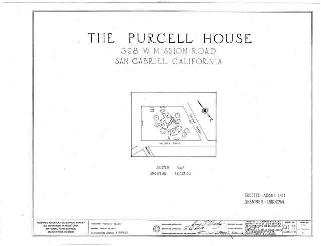 Purcell House, 308 Mission, San Gabriel, Los Angeles County, CA