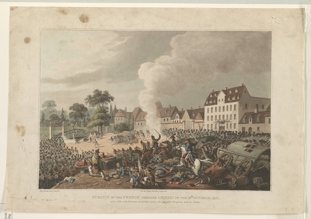 Pursuit of the French through Leipsic on the 19th October 1813