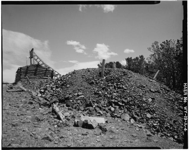 Queen Mine, Shafthouse, Centennial Ridge, Medicine Bow National Forest, Centennial, Albany County, WY