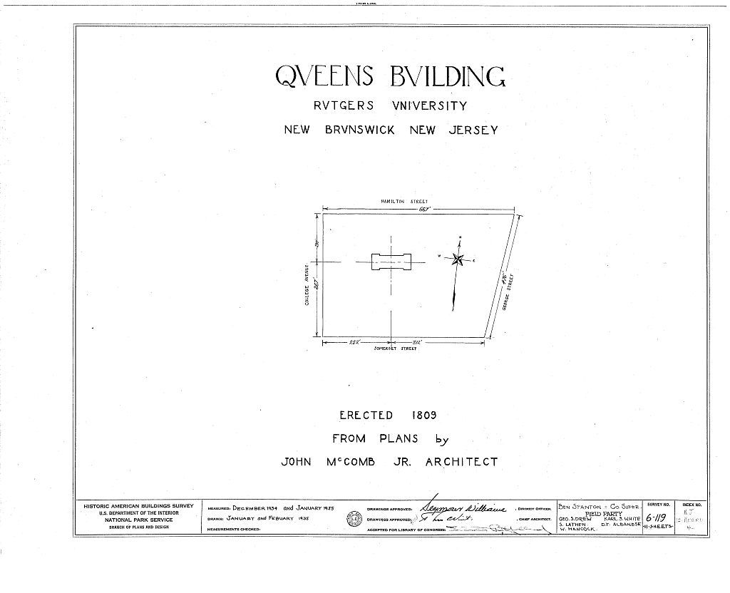 Queen's Building, Somerset Street, New Brunswick, Middlesex County, NJ