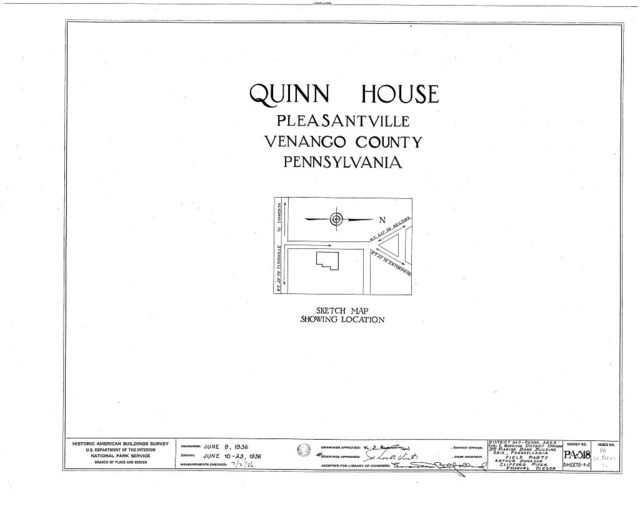 Quinn House, Pleasantville, Venango County, PA