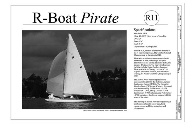 R-Boat Pirate, The Center for Wooden Boats, Seattle, King County, WA
