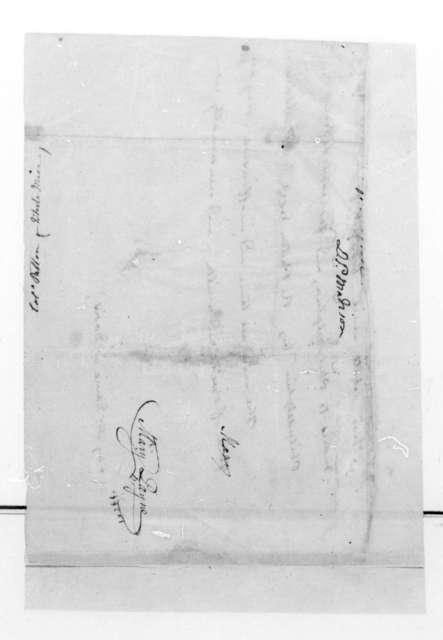 R. Patton to Dolley Payne Madison. Fragment - Regarding some white mice sent to Dolley Payne Madison from R. Patton.