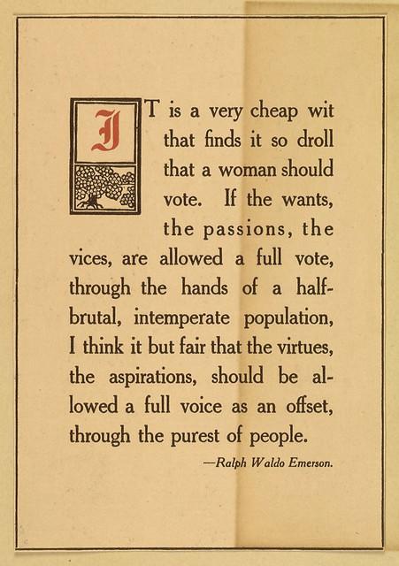 Ralph Waldo Emerson Suffrage Quote Card