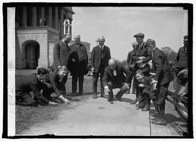 Ralston playing marbles, 4/26/24