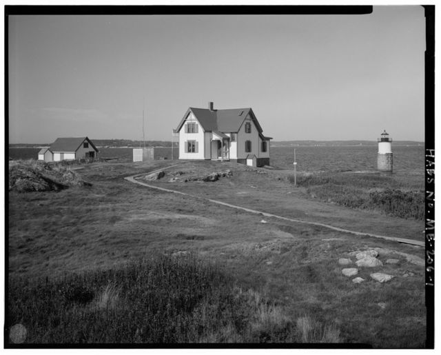 Ram Island Light Station, Ram Island, south of Ocean Point & just north of Fisherman Island, marking south side of Fisherman Island Passage, Ocean Point, Lincoln County, ME