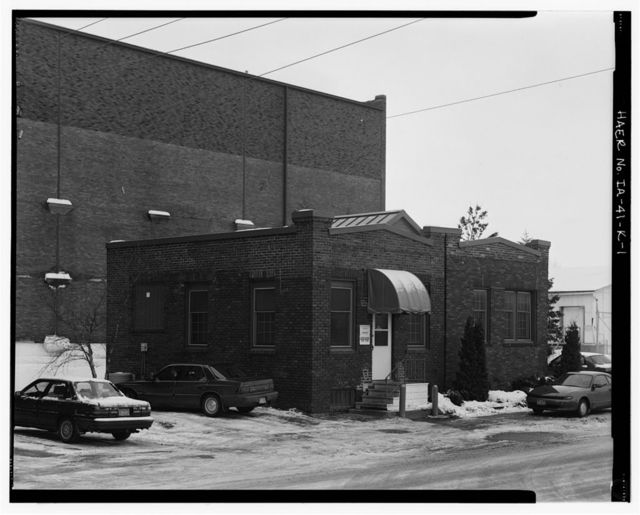 Rath Packing Company, Government Inspectors' Office Building, Sycamore Street between Elm & Eighteenth Streets, Waterloo, Black Hawk County, IA