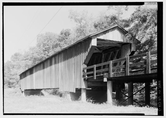 Red Oak Creek Bridge, Spanning (Big) Red Oak Creek, Huel Brown Road (Covered Bridge Road), Woodbury, Meriwether County, GA