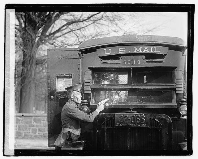 Regulation Army 44 Colt and its effect on bullet proof glass used in the new armoured postal trucks which it is proposed to put into use as a further protection of valuable mails, 12/1/21