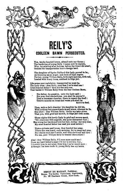Reily's Cooleen Bawn persecuted. H. De Marsan, Publisher, 60 Chatham Street, N. Y