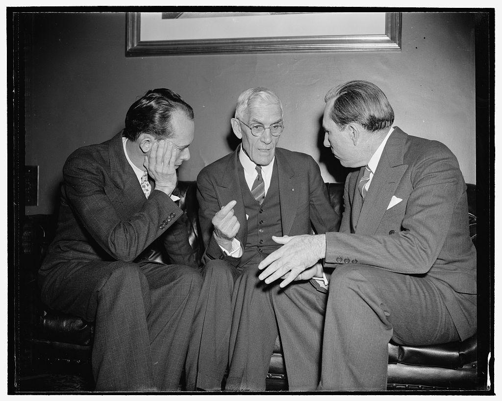 Rep. Joseph Hendricks, Francis Townsend, Sen. Claude Pepper. Co[...], 1/5/39