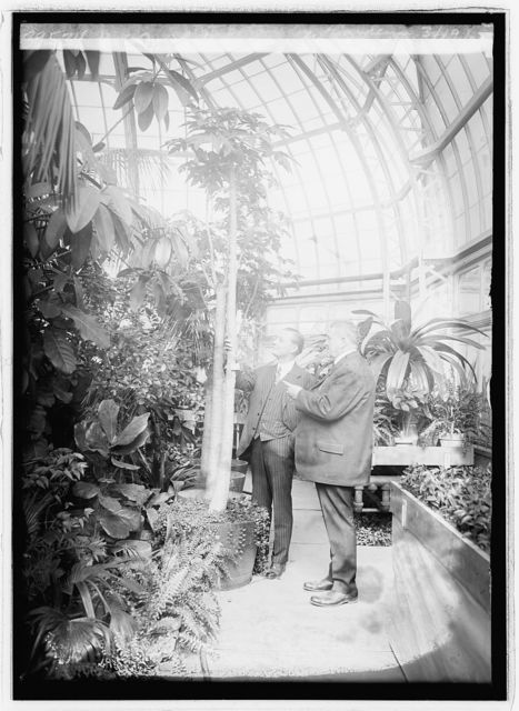 Rep. M.L. Davey & Geo. W. Hess at Botanical Gardens, 3/19/26